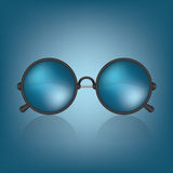 Retro blue sunglasses Stock Photo