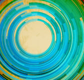 Retro blue swirl shape abstract background Stock Photography