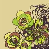 Retro- Blumen Stockbilder