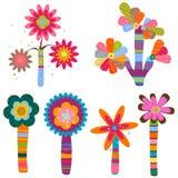 Retro- Blumen Stockfoto