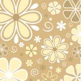 Retro- Blumen Stockbild