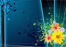 Retro- Blumenabbildung Stockfoto