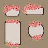 Retro- Blumenfahnen Stockfoto