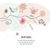 Retro- Blumengrußkarte Stockbild