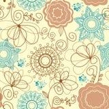 Retro- Blumenhintergrund lizenzfreie abbildung