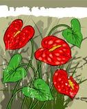 Retro- Blumenhintergrund Stockbild