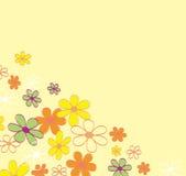 Retro- Blumenhintergrundbeschaffenheit Stockbild