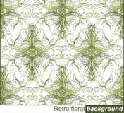 Retro- Blumenverzierung, Muster Stockfotografie