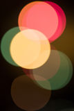 Retro blurred lights in the night Royalty Free Stock Photo