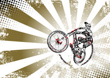Retro bmx freestyle poster background Royalty Free Stock Photos