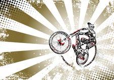Retro bmx freestyle poster background Royalty Free Stock Photos