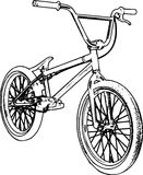 Retro BMX Sketch Stock Photo