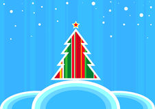 retro Bożego Narodzenia drzewo Zdjęcia Stock