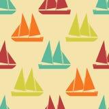 Retro boat seamless pattern Royalty Free Stock Photography