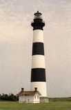 Retro Bodie Island Lighthouse royalty free stock images