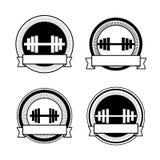 Retro bodybuildingemblem för vektor Royaltyfri Foto