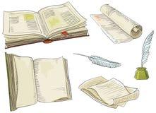 Retro boeken Stock Foto's