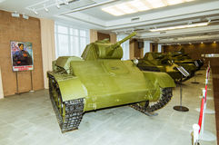 Retro bojowy pojazdu pancernego eksponata militarnej historii muzeum, Ekaterinburg, Rosja, 05 03 2016 rok Zdjęcia Royalty Free