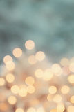 Retro Bokeh. Abstract background of retro tinted holiday lights with copy space Stock Photo