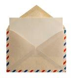 Retro bokstav för stilflygpostkuvert royaltyfria bilder