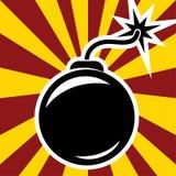 Retro bomba ilustracji