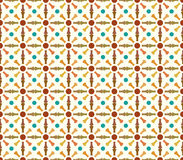 Retro Bone and Circle Pattern on Pastel Color Stock Image