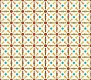 Retro Bone and Circle Pattern on Pastel Color. Bone and circle pattern on pastel background. Retro and classic bone pattern for modern or classic design Stock Image
