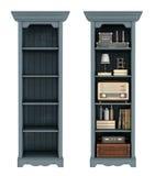 Retro bookcase on white Royalty Free Stock Image