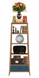 Retro bookcase on white Stock Images