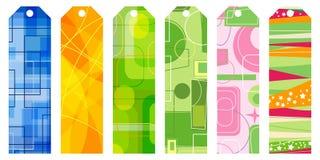 Retro bookmark set. Abstract retro bookmark set vector illustration vector illustration