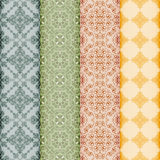Retro bookmarks with seamless pattern Royalty Free Stock Photos
