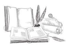 Retro books stock illustration