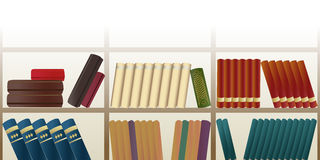Retro bookshelf pattern Royalty Free Stock Photography