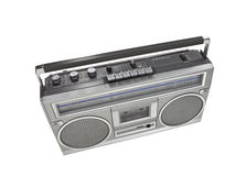 Retro Boom Box Portable Stereo Isolated Royalty Free Stock Photography