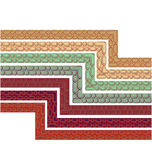 Retro Borders set of 7. Retro border pattern SET of 7 colour variations Royalty Free Stock Images