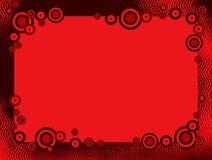 Retro bordo/blocco per grafici dei cerchi Fotografie Stock