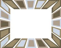 Retro bordo della casella marrone e blu Fotografie Stock Libere da Diritti