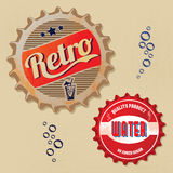 Retro bottle cap Design Stock Image