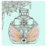 Retro bottle of perfume Royalty Free Stock Image