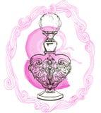 Retro bottle of perfume Royalty Free Stock Photos