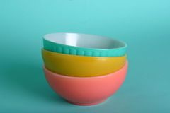 Retro bowls Royalty Free Stock Image