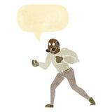 Retro- Boxermann der Karikatur mit Spracheblase Lizenzfreies Stockfoto