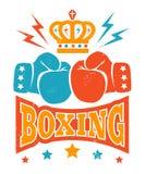 Retro boxninglogo Royaltyfri Fotografi