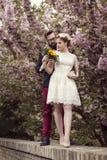 Retro bröllop Arkivfoton