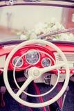 retro bröllop för bil Royaltyfri Foto