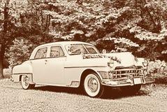 retro bröllop för bil Arkivbild