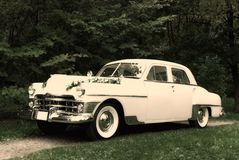 retro bröllop för bil Fotografering för Bildbyråer