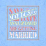 Retro bröllopinbjudankort Arkivbild