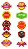 Retro brand tags Stock Image