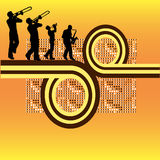 Retro Brass. Background illustration with a group of brass instrument musicians vector illustration